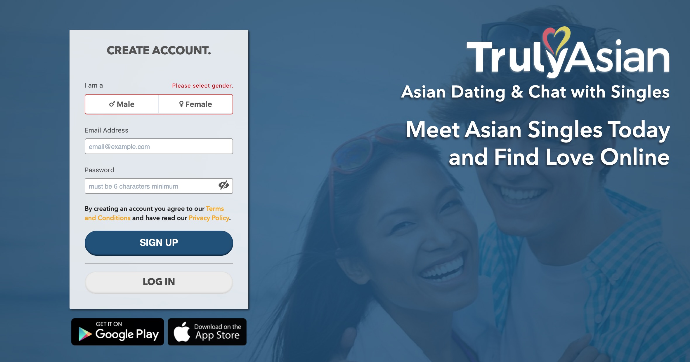 TrulyAsian create account